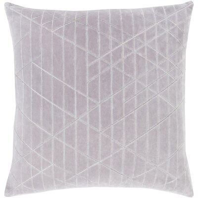 Regan Cotton Throw Pillow Color: Gray, Size: 20 H x 20 W x 5 D, Type/Fill: Pillow With Down Insert