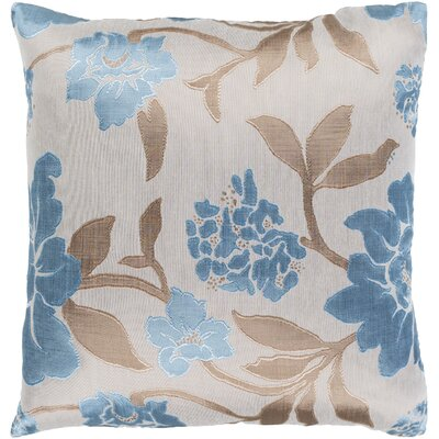 Blossom Elegant Embroidered Throw Pillow Size: 18 H x 18 W x 4 D, Type/Fill: Pillow With Down Insert