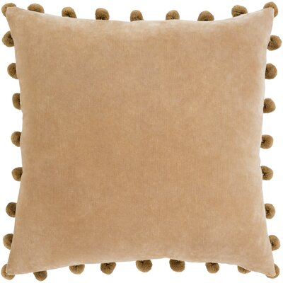 Serengeti Cotton Throw Pillow Color: Brown, Size: 20 H x 20 W x 5 D,  Type/Fill: Pillow With Down Insert