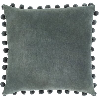 Serengeti Cotton Throw Pillow Color: Charcoal, Size: 20 H x 20 W x 5 D,  Type/Fill: Pillow With Down Insert