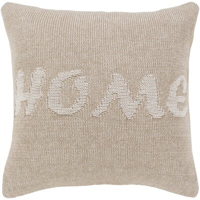 Annetta No Place Like Home Cotton Throw Pillow Size: 18 H x 18 W x 4 D, Product Type/Fill: Pillow With Down Insert