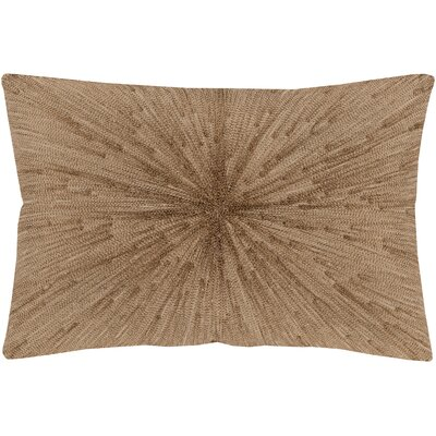 Baran Cotton Pillow Color: Copper, Size: 13 H x 19 W x 0.25 D, Type/Fill: Cover