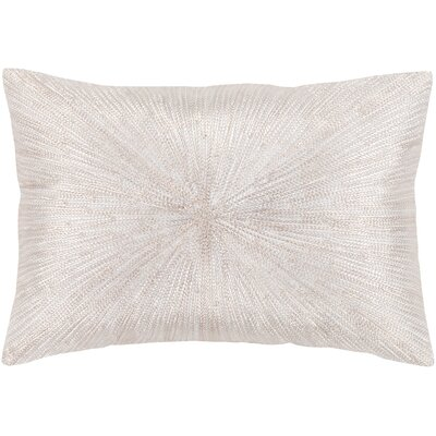 Baran Cotton Pillow Color: White, Size: 13 H x 19 W x 4 D, Type/Fill: Pillow With Down Insert