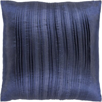 Burlington Elegant Pleated Throw Pillow Color: Blue, Size: 20 H x 20 W x 5 D, Type/Fill: Pillow With Down Insert