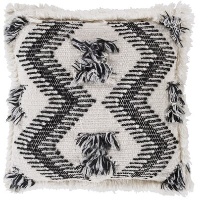 Zelah Handmade Embroidered Throw Pillow Type/Fill: Pillow With Down Insert