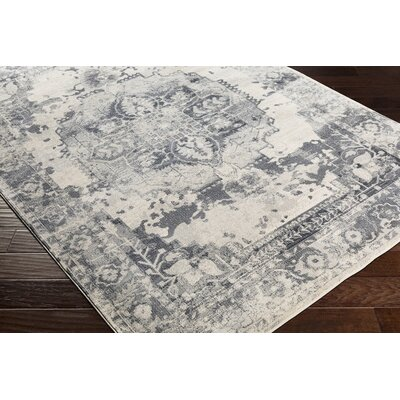 Lillo Floral Gray/White Area Rug Rug Size: Runner 23 x 76