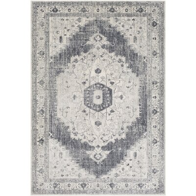 Lillo Distressed Vintage Gray/Ivory Area Rug Rug Size: Rectangle 710 x 103