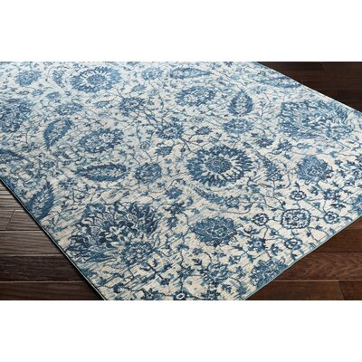 Lillo Floral Blue Area Rug Rug Size: Runner 27 x 76