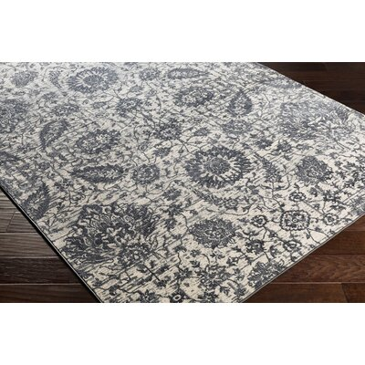 Lillo Floral Gray Area Rug Rug Size: Runner 27 x 76