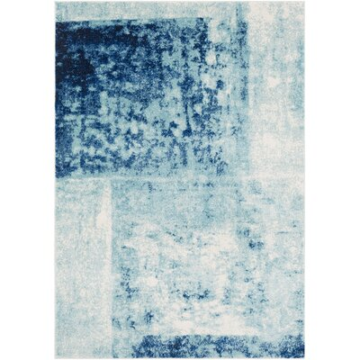 Leonardo Modern Navy Area Rug Rug Size: Rectangle 53 x 73