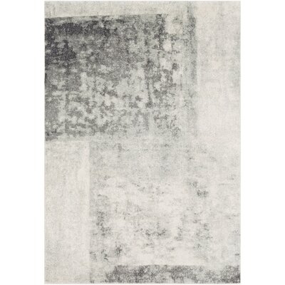 Leonardo Modern Gray Area Rug Rug Size: Rectangle 53 x 73