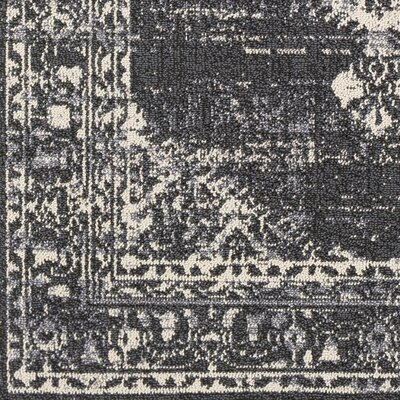 Tamika Distressed Vintage Charcoal/Cream Area Rug Rug Size: Rectangle 93 x 121