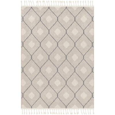 Hudgens Beige/Ivory Area Rug Rug Size: Rectangle 93 x 121