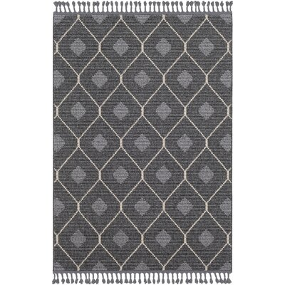 Hudgens Charcoal/Gray Area Rug Rug Size: Rectangle 5 x 73