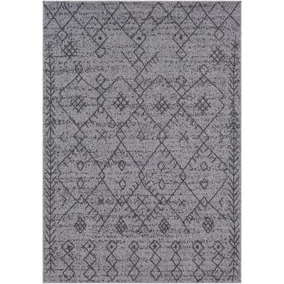 Hudgens Distressed Gray/Charcoal Area Rug Rug Size: Rectangle 5 x 73