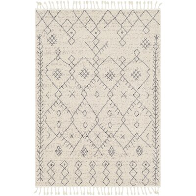 Hudgens Distressed Cream/Gray Area Rug Rug Size: Rectangle 5 x 73