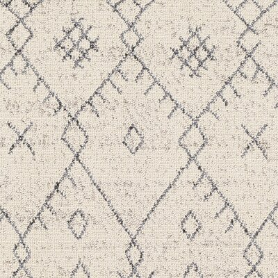 Hudgens Distressed Cream/Gray Area Rug Rug Size: Runner 27 x 10