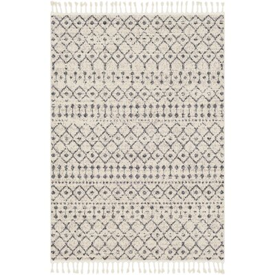 Hudgens Distressed Southwestern Ivory/Charcoal Area Rug Rug Size: Rectangle 93 x 121
