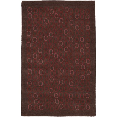 Thea Hand-Tufted Wool Burgundy/Garnet Area Rug