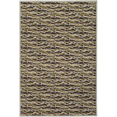 Lesath Hand-Woven Brown/Pale Blue Area Rug