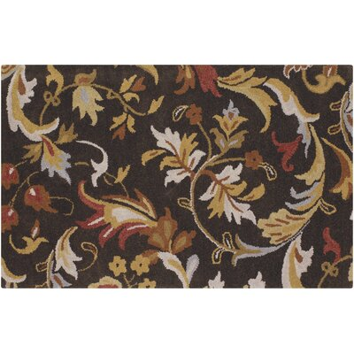 Greenock Hand-Tufted Wool Dark Brown/Tan Area Rug