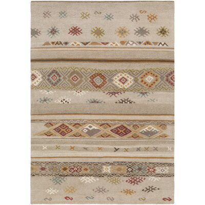 Ayers Village Hand-Knotted Wool Tan/Olive Area Rug