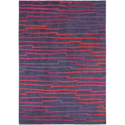 Thelma Hand-Knotted Wool Bright Red/Magenta Area Rug
