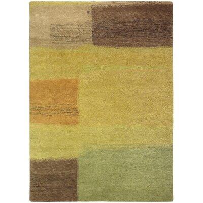Thelma Hand-Knotted Wool Dark Yellow/Burnt Orange Area Rug