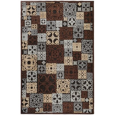 Darren Modern Tan/Pale Blue Area Rug