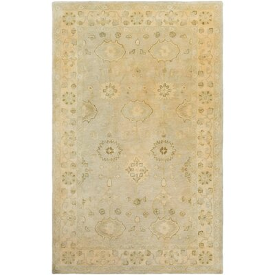 Casares Hand-Tufted Wool Sky Blue/Khaki Area Rug Rug Size: Rectangle 5 x 8