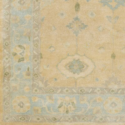 Casares Hand-Tufted Wool Sky Blue/Khaki Area Rug Rug Size: Rectangle 5 x 8
