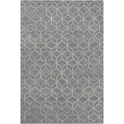 Rumbaugh Modern Geometric Hand-Woven Ivory/Gray Area Rug Rug Size: Rectangle 9 x 13