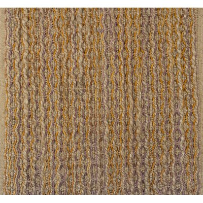 Horsham Jute Hand-Woven Beige/Mustard Area Rug Rug Size: Rectangle 5 x 76