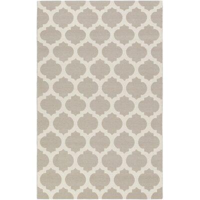 Stonebridge Hand-Woven Wool Light Gray/Gray Area Rug Rug Size: Rectangle 8 x 10