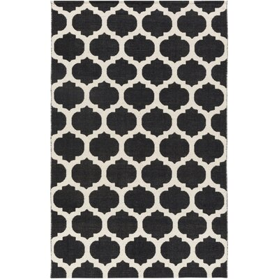 Stonebridge Hand-Woven Wool Black/Light Gray Area Rug Rug Size: Rectangle 8 x 10