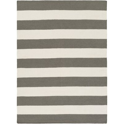 Stonebridge Hand-Woven Wool Gray/Light Gray Area Rug Rug Size: Rectangle 8 x 10