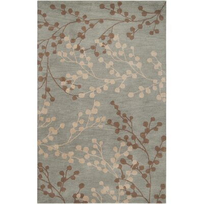 Dedrick Hand-Tufted Wool Sage/Wheat Area Rug Rug Size: Rectangle 5 x 79