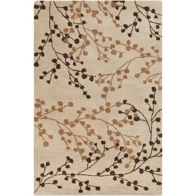 Dedrick Hand-Tufted Wool Champagne/Brick Area Rug Rug Size: Rectangle 36 x 56