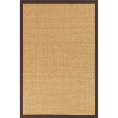 Hepatique Hand-Woven Sepia/Merlot Area Rug Rug Size: Rectangle 4 x 6
