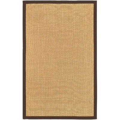 Hepatique Hand-Woven Sepia/Merlot Area Rug Rug Size: Rectangle 5 x 79