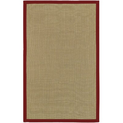 Hepatique Hand-Woven Olive/Currant Area Rug Rug Size: Rectangle 6 x 9