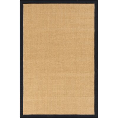 Hepatique Hand-Woven Sepia/Black Area Rug Rug Size: Rectangle 4 x 6