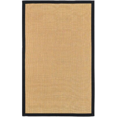 Hepatique Hand-Woven Sepia/Black Area Rug Rug Size: Rectangle 5 x 79