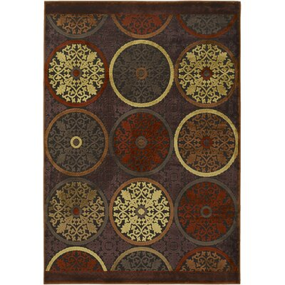 Casey Modern Plum/Beige Area Rug Rug Size: Rectangle 76 x 106
