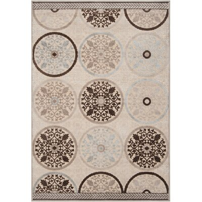 Casey Modern Brown/Khaki Area Rug Rug Size: Rectangle 76 x 106