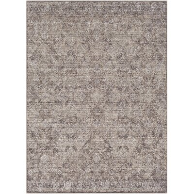 Madilynn Camel/Dark Brown Area Rug Rug Size: Rectangle 53 x 76