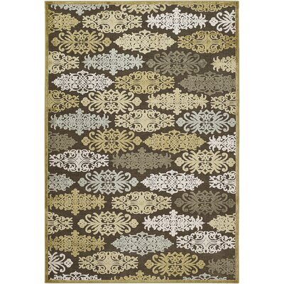 Caseyville Traditional Hand-Woven Brown/Pale Blue Area Rug Rug Size: Rectangle 76 x 106