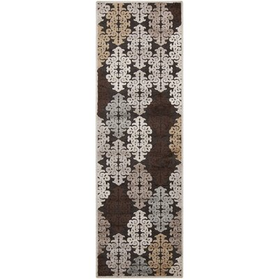 Caseyville Traditional Hand-Woven Khaki/Pale Blue Area Rug Rug Size: Runner 26 x 71