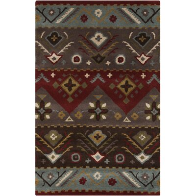 Co Bohemian Hand-Tufted Garnet/Plum Area Rug Rug Size: Rectangle 36 x 56