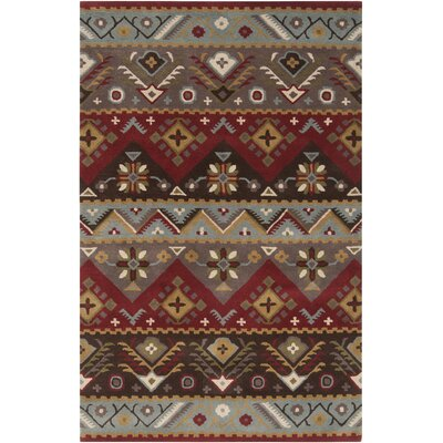 Co Bohemian Hand-Tufted Garnet/Plum Area Rug Rug Size: Rectangle 5 x 79